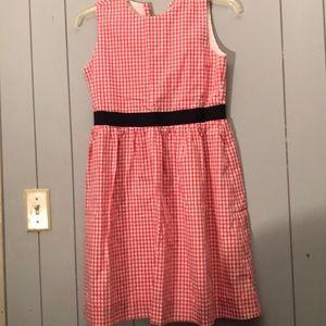 Brooks Brothers fleece red stripe dress